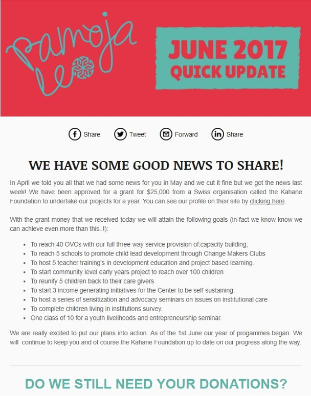 charity in tanzania